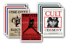 THE CULT  - 10 promotional posters - collectable postcard set # 2