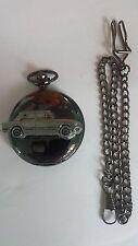 Triumph Dolomite ref274 car emblem on polished black case mens pocket watch