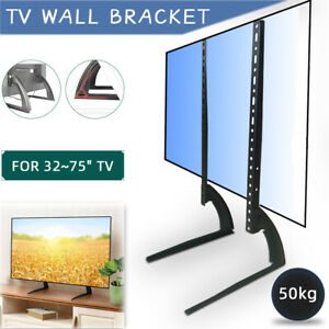 Desk TV Table Top Bracket Mount Stand Flat For 32-75 Inch LED LCD Sony Plasma