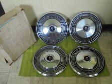 "NOS 73 74 Pontiac Hub Caps 15"" Set of 4 Wheel Covers 1973 1974 Hubcaps"