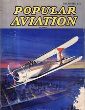 1936 Popular Aviation December Stearman trainers; Wright bicycle shop; Uniplane