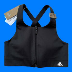 Adidas Ultimate Womens High Support Sports Bra Top Black Size 30B