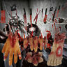Halloween Banner Horror Hanging Decorations Scary Bloody Weapons, Hands and Feet