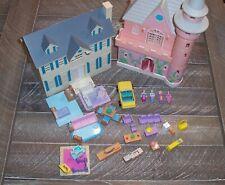 Lewis Galoob lot 1994 My Pretty Dollhouse + 1995 My Pretty Enchanted Castle .