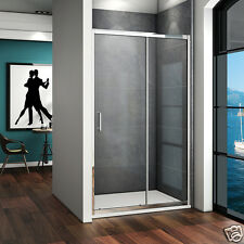 1000x700 Sliding Shower Door and Tray Enclosure Walk In Glass Screen Anti-glare