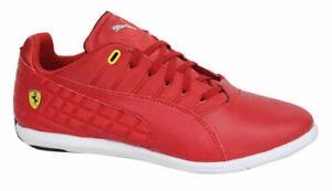 Puma Pedale 4 SF Ferrari NM Red Lace up Trainers 305504 01 B33D