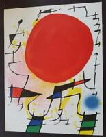 Joan Miro Original Stone Lithograph III Mourlot 1972 Limited ed. Rare