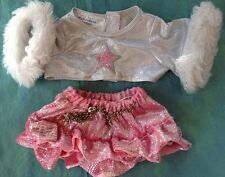 ADORABLE 2-PC BUILD A BEAR RUFFLED SKIRT WITH TOP TO MATCH!!