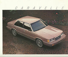 1987 Plymouth CARAVELLE Brochure/Catalog with Color Chart: SE,