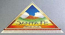 Santa Fe Brewing SANTA FE PALE ALE paper beer label NM 12oz No wings
