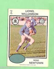 1975 RUGBY LEAGUE CARD - #122.  LIONEL WILLIAMSON, NEWTOWN JETS