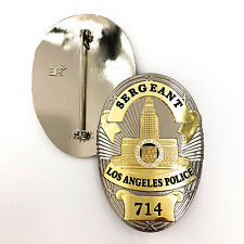 Dragnet's Sergeant LAPD 714 TV Show Replica Police Badge w/ ER Crown Hallmark !!