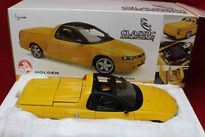 1-18 Classic Carlectable 2001 Yellow Holden Utester Concept with Sunroof # 18050