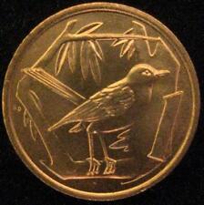 Cayman Islands 1 Cent BU 1977 Great Caiman Thrush bird BU