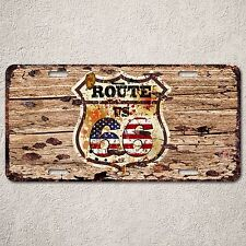 LP0088 Route 66 Historic Road Auto Car License Plate Sign Rust Vintage Decor