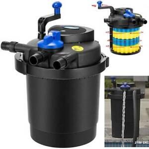 2100 Gal Pond Pressure Bio Filter w/ 13W UV Sterilizer Light Koi Fish ETL Listed