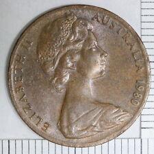 Australia Australian 2 cents Coin 1980 Error Thin Planchet 3.6g (Dan25/C3)