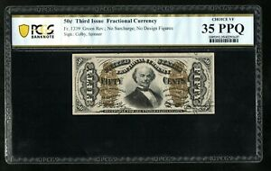 FR 1339 50c Fractional Currency without surcharges PCGS 35PPQ  Ch VF