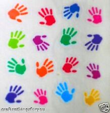 Sandylion Mylar Hand Prints in Color Scrapbooking Stickers *FAST SHIP* G107