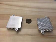 2 Pieces - Silver IC LED Aluminum Cooling Fan Heatsink Cooler 55mm hole CPU C34