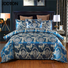 New Satin Jacquardt Bedding Set Classcial Pattern Quilt Cover Pillowcase Cover