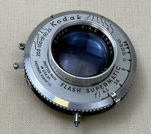 Kodak Ektar 152mm f/4.5 Large Format 4x5 Lens w/Flash-Supermatic Shutter