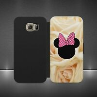 MINNIE MOUSE DISNEY LUXURY WALLET FLIP CASE COVER FOR ALL PHONE MODELS S X