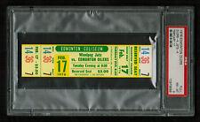 PSA 8 WINNIPEG JETS at the EDMONTON OILERS 1976 Unused WHA Ticket