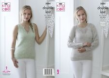KINGCOLE 5044 Ladies DK KNITTING PATTERNS sizes32-42in - Not the finished Items