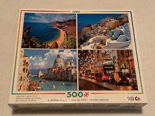 Ceaco 4 Jigsaw Puzzle Pack 500 Piece Canary Islands Venice Santori London