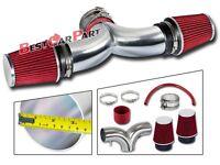 BCP RED 01-04 Corvette C5 5.7 V8 Dual Twin Ram Air Intake System +Air Filter