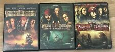 Pirates of the Caribbean Dvd's 1 2 3 Set of 3 Movies