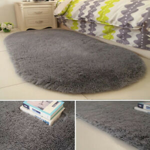 Fluffy Rugs Anti-Skid Shaggy Area Rug Carpet Home Bedroom Floor Mat Home Decor