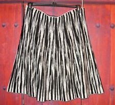 GRACE ELEMENTS WOMEN'S KNIT SKIRT BLACK IVORY SIZE XL
