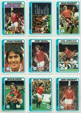 Manchester United signed Topps Football set 1978 1979 Blue backs Pick your card