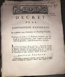 RÉVOLUTION.DOCUMENT SUR LA CAISSE DE L'EXTRAORDINAIRE . AN PREMIER(1792).