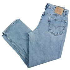 Levi's 505 Denim Mom Jeans Blue Tapered Relax Fit Mens 34X30 Stonewash High Rise