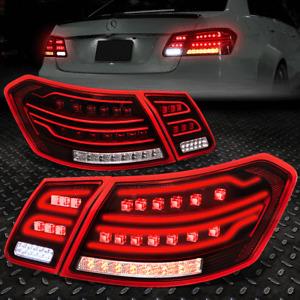 [LED NEON BAR]FOR 10-12 MERCEDES BENZ E-CLASS W212 SEDAN TAIL LIGHT BRAKE LAMPS