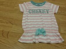 Brand New Girls Size 3-4 Years Cheeky Pink & White Striped Top