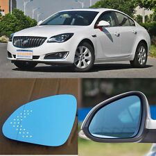 Rearview Mirror Blue Glasses LED Turn Signal with Power Heating For Buick Regal