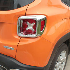 Rear Light Tail Lamp Cover Trim Chrome 2pcs For Jeep Renegade 2015-2017