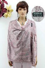 Pastel Pink High Quality Tree Of Life Design Cashmere Pashmina Shawl Wrap Scarf