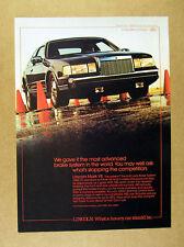 1986 Lincoln Mark VII black car photo vintage print Ad