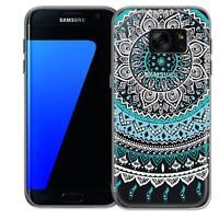 Schutzhülle Samsung Galaxy S7 Edge Hülle Silikon Handy Tasche Mandala Case Cover