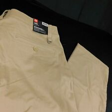 Under Armour Performance Chino Beige Taper Tapered Leg Men Pants W 38 L 34