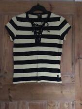 Roots Canada Top T shirt stripey Top Size XS