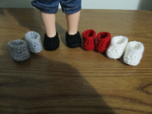 """4 pairs slippers shoes fit Wellie Wishers and 14"""" dolls"""