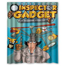 New Fabric Bath Curtain Inspector Gadget Custom Shower Curtain 60x72 Inch