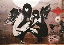 BANKSY ANGEL FAIRIES POSTER ART PRINT PICTURE A3 11.7 × 16.5 INCH AMK2037