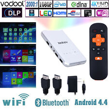 VODOOL Android 4.4 Wifi DLP Pocket Projector Ultra-Thin Home Cinema Mini Th hv2n